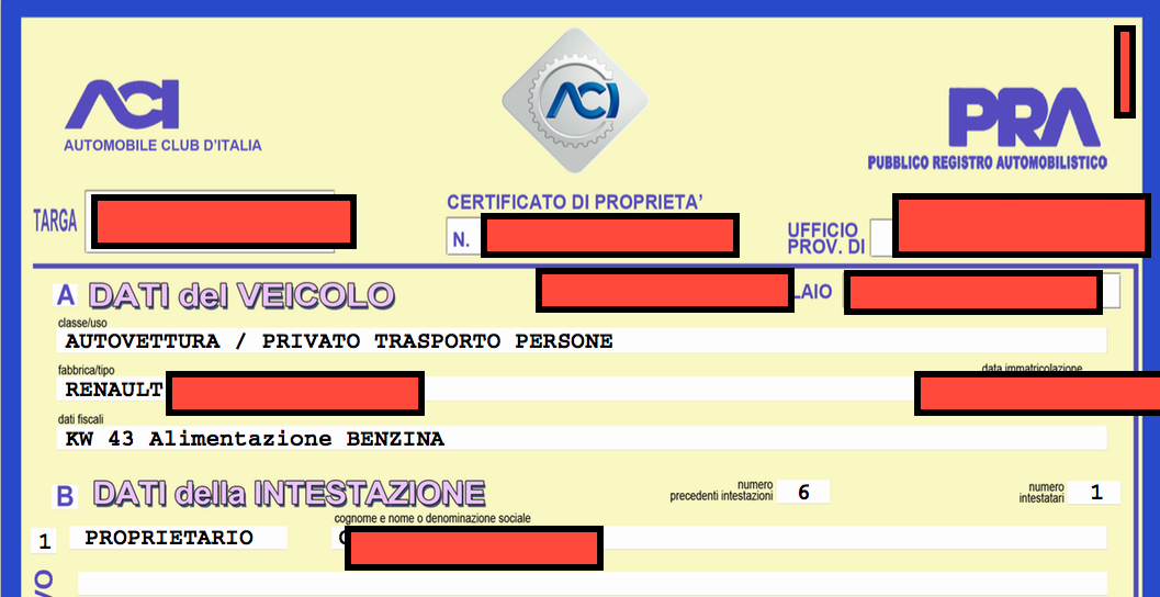 cdpd certificato di proprietà digitale