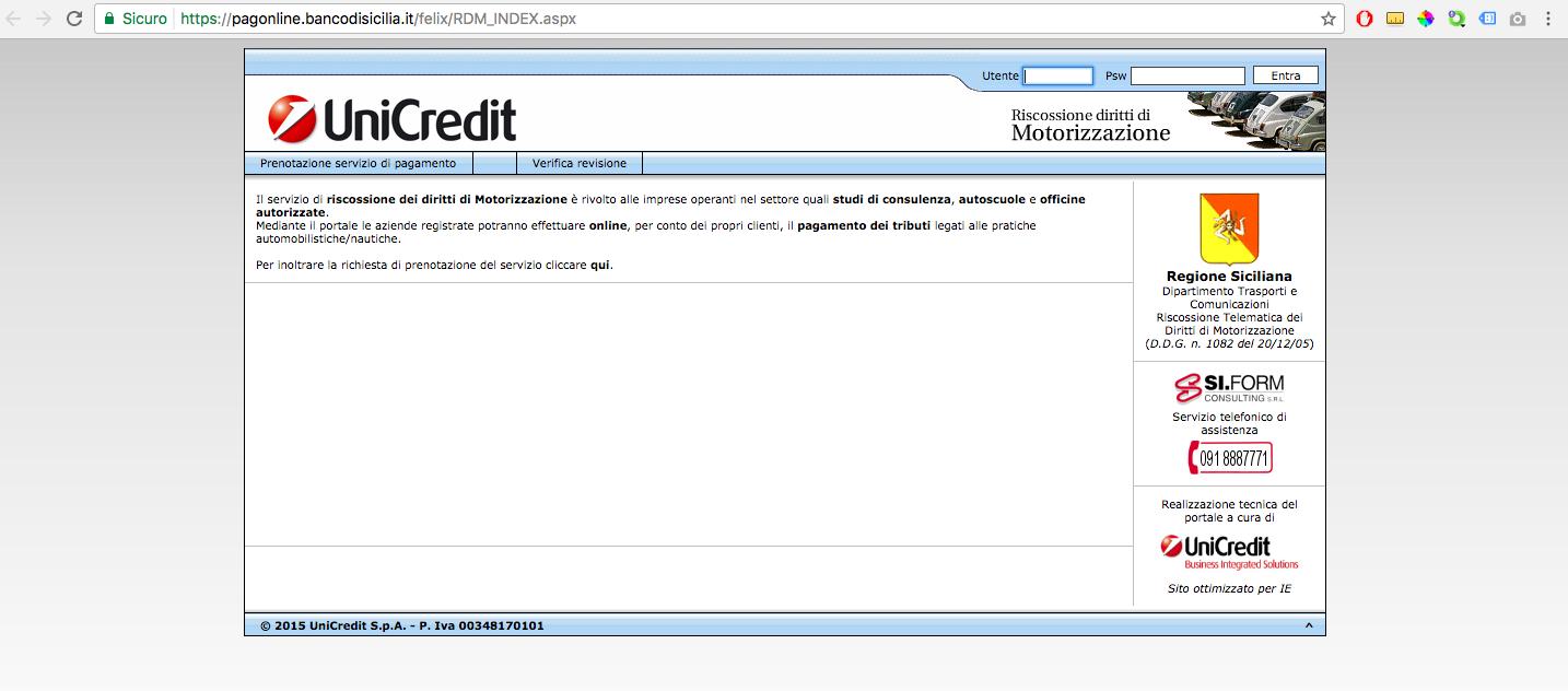 Sostituzione codici tributi Pago Online Banco di Sicilia