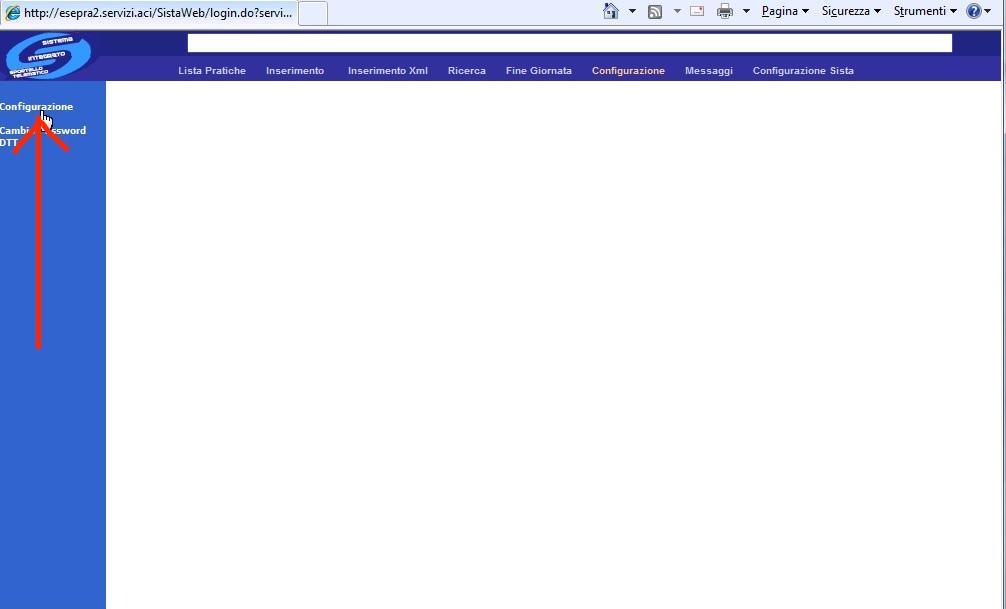Perdita della configurazione Utente DTT nel portale Aci